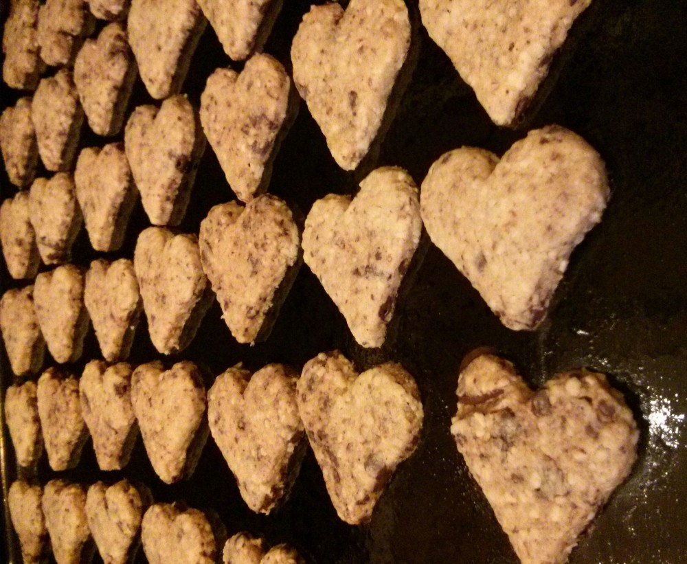 Mignon-Herzen vegan im Ofen
