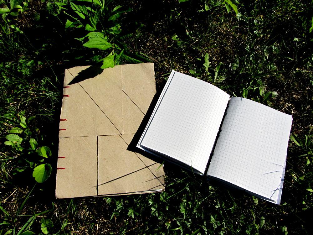 Selbstgemachte Blanko-Bücher